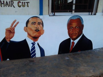 President Obama or President Koroma hair cut. Courtesy of Mimmi Söderberg Kovacs