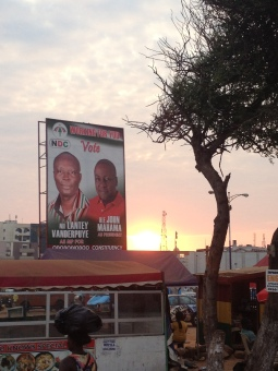 …. had to spend a lot of extra money to get the new President John Mahama onto his massive election posters