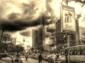 Nairobi on a rainy day. Photo: Mats Utas