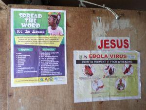 On a teacher's door in Monrovia