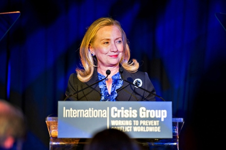 Hillary Clinton at ICG Annual Award ceremony (Picture borrowed from glkcreative.com)