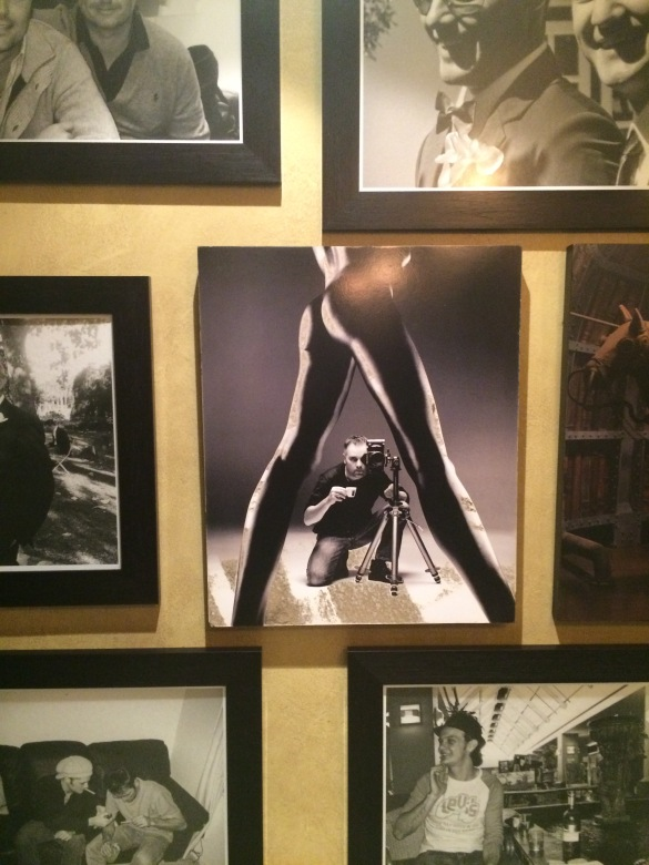 The white man's gaze. Photos on the wall in a Umhlanga restaurant