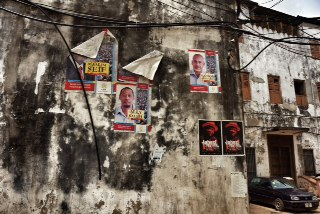CUF posters in Stone Town